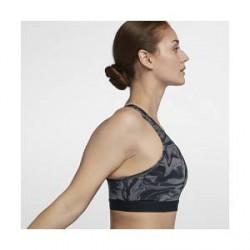 Nike Classic farvet marmor-design– sports-bh med medium støtte til kvinder - Grå