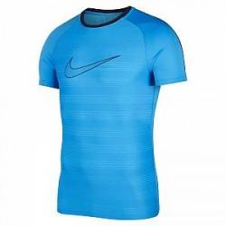 Nike Dri-FIT Academy-kortærmet fodboldtrøje til mænd - Blå