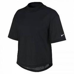 Nike Dri-FIT-kortærmet træningsoverdel til kvinder - Sort