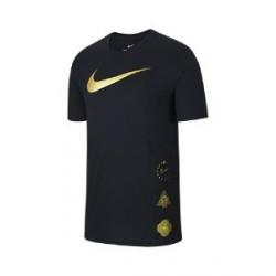 Nike Dri-FIT Swoosh-basketball-T-shirt til mænd - Sort