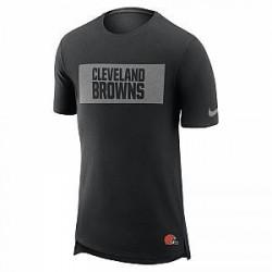 Nike Enzyme Droptail (NFL Browns) - T-shirt til mænd - Sort