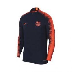 Nike FC Barcelona VaporKnit Strike Drill-fodboldoverdel til mænd - Blå