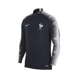 Nike FFF VaporKnit Strike Drill-fodboldtræningstrøje med lange ærmer til mænd - Blå