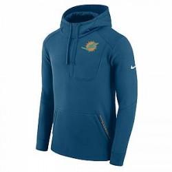 Nike Fly Fleece (NFL Dolphins) - hættetrøje til mænd - Blå