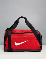 Nike Gym Bag In Red With Swoosh - Red