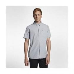 Nike Hurley Pescado Oxford - kortærmet trøje til mænd - Grå