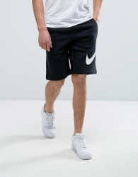 Nike Jersey Shorts With Large Logo In Black 843520-010 - Black