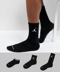 Nike Jordan 3 Pack Waterfall Socks In Black SX6274-010 - Black