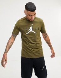 Nike Jordan Air Logo T-Shirt In Green AA1907-395 - Green