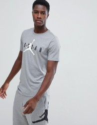 Nike Jordan Air Logo T-Shirt In Grey AA1907-091 - Grey