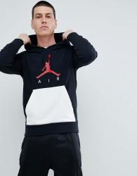 Nike Jordan Air Pullover Hoodie In Black AJ0805-010 - Black