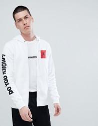 Nike Jordan AJ3 Full Zip Hoodie With Arm Print In White 943924-100 - White