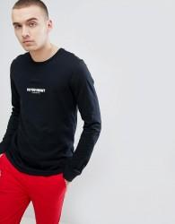 Nike Jordan AJ3 Long Sleeve Top With Back Print In Black 943938-010 - Black