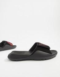 Nike Jordan Hydro 7 Sliders In Black - Black