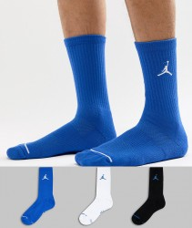 Nike Jordan Jumpman 3 Pack Crew Socks In Multi SX5545-023 - Multi