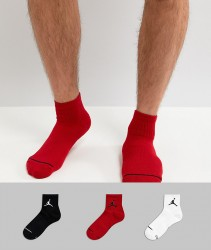 Nike Jordan Jumpman 3 Pack Quarter Socks In Multi SX5544-011 - Multi