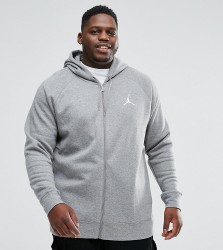 Nike Jordan PLUS Flight Fleece Hoodie In Grey 823064-091 - Grey