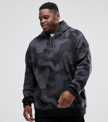 Nike Jordan PLUS P51 Flight Fleece Hoodie In Camo 860350-010 - Black