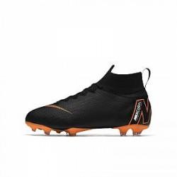 Nike Jr. Mercurial Superfly 360 Elite-fodboldstøvler til store børn (fast underlag) - Sort