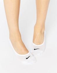 Nike Lightweight White 3 Pack No Show Socks - White