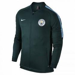 Nike Manchester City FC Dri-FIT Squad-løbejakke til mænd - Grøn
