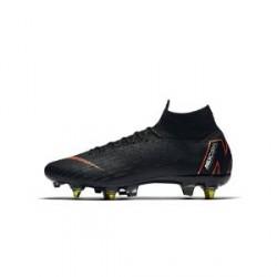 Nike Mercurial Superfly 360 Elite SG-PRO Anti-Clog-fodboldstøvle (blødt underlag) - Sort