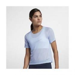 Nike Miler– kortærmet top til kvinder - Blå
