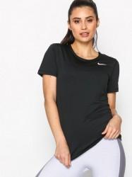 Nike NP Top SS All Over Mesh Top Kortærmet Sort / Hvid