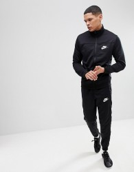 Nike Poly Tracksuit Set In Black 861774-010 - Black