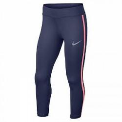 Nike Power-3/4-løbetights til store børn (piger) - Blå