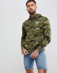Nike Pullover Hoodie In Camo Print In Green AQ0598-325 - Green