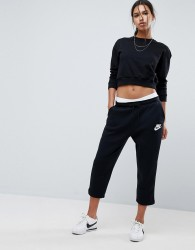 Nike Rally Ankle Joggers In Black - Black