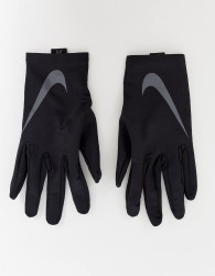 Nike Running base layer gloves in black - Black