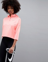 Nike Running Dry Element Cropped Hoodie In Pink - Pink