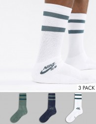 Nike SB 3 Pack Crew Socks In Multi SX5760-901 - Multi