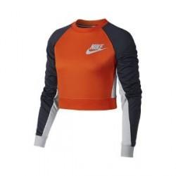 Nike Sportswear-kort trøje med rund hals til kvinder - Orange