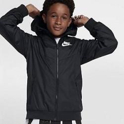 Nike Sportswear Windrunner-jakke til store børn (drenge) - Sort
