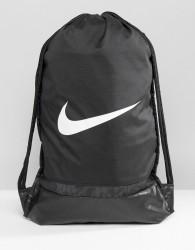 Nike Swoosh Drawstring Backpack In Black BA5338-010 - Black