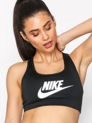 Nike Swoosh Futura Bra Sports BH Medium Support Sort