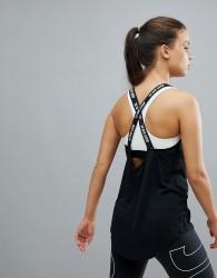 Nike Training Dry Elastika Tank In Black - Black
