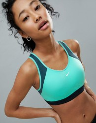 Nike Training Motion Adapt High Support Bra In Green - Green