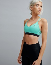 Nike Training Pro Indy Bra In Green - Green