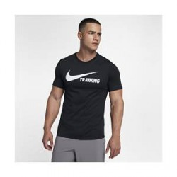 Nike Training Swoosh - T-shirt til mænd - Sort