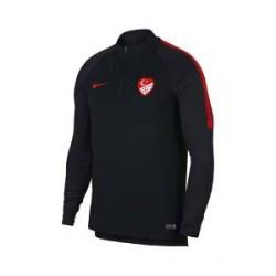 Nike Turkey Dri-FIT Squad Drill-fodboldtrøje med lange ærmer til mænd - Sort