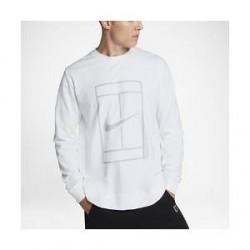 NikeCourt– Crew-tennistrøje til mænd - Hvid