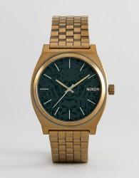 Nixon A045 Time Teller Bracelet Watch In Gold - Gold