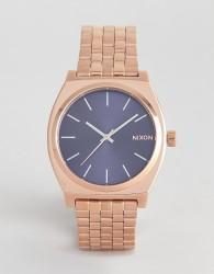 Nixon A045 Time Teller Bracelet Watch In Rose Gold 37mm - Gold