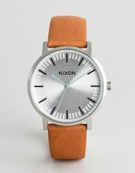 Nixon A1058 Porter Leather Watch In Tan - Tan