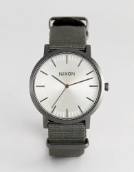 Nixon A1059 Porter Canvas Watch In Green - Green