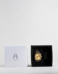 Nixon A1137 Time Teller Interchangable Strap Gift Set - Gold